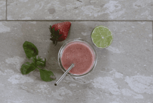 Low-FODMAP Recipes: Strawberry-Basil Summer Smoothie - strawberry basil smoothie